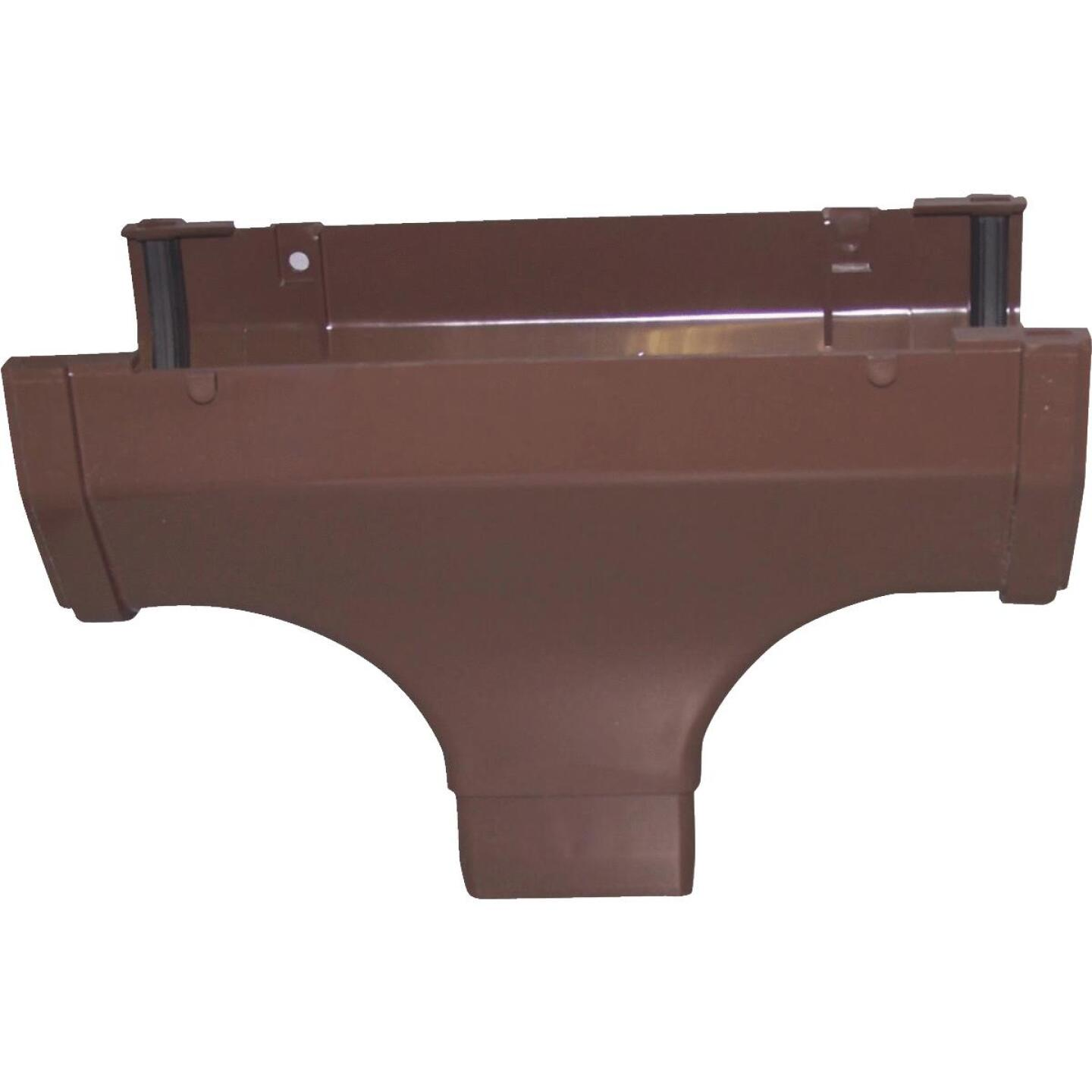 Raingo 5 In. Vinyl Brown Gutter Drop Outlet Image 1