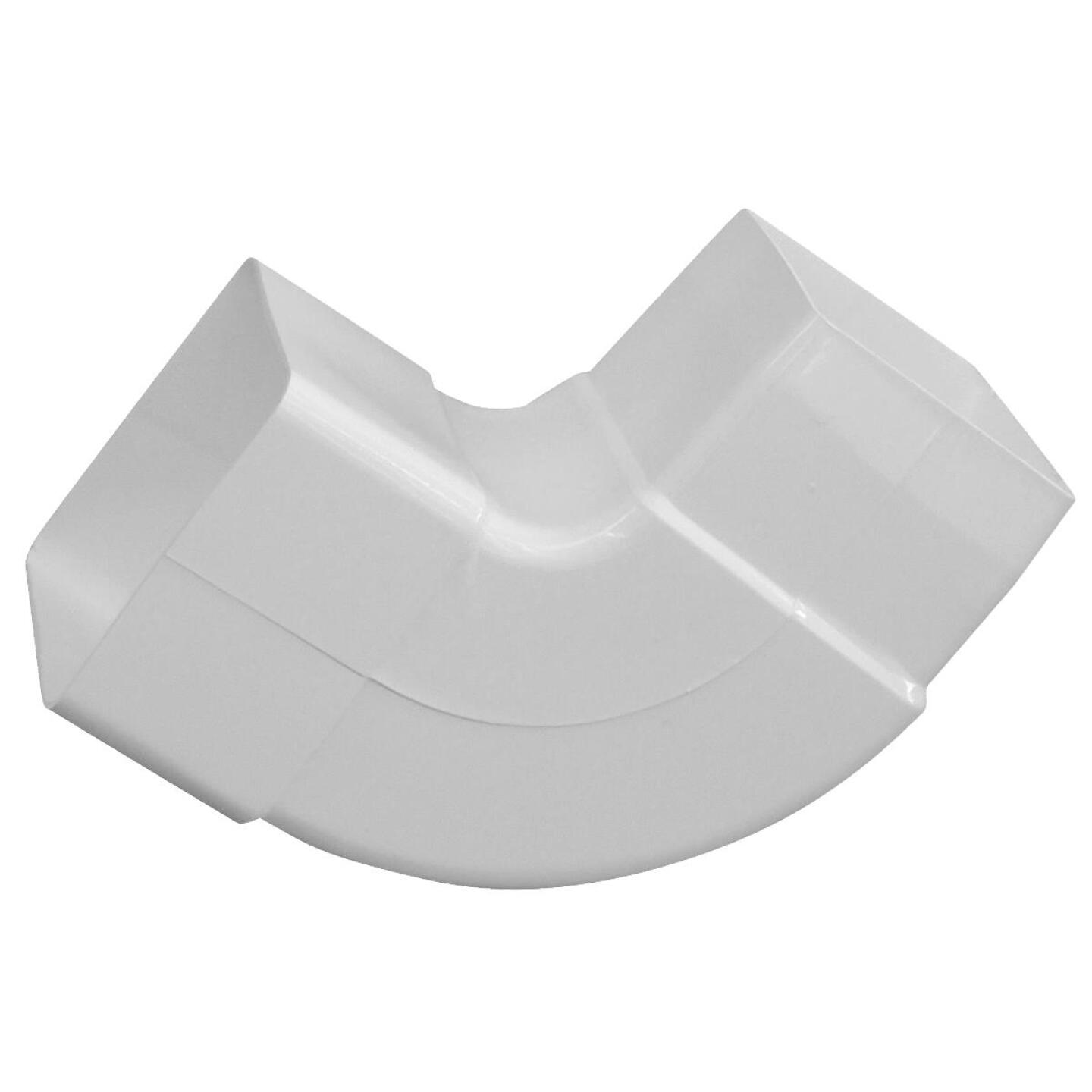 Raingo 2-1/2 In. Vinyl White Front or Side Downspout Elbow Image 1