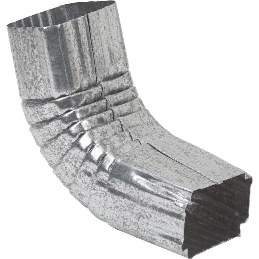 Amerimax 2 x 3 In. Galvanized Galvanized Front Downspout Elbow