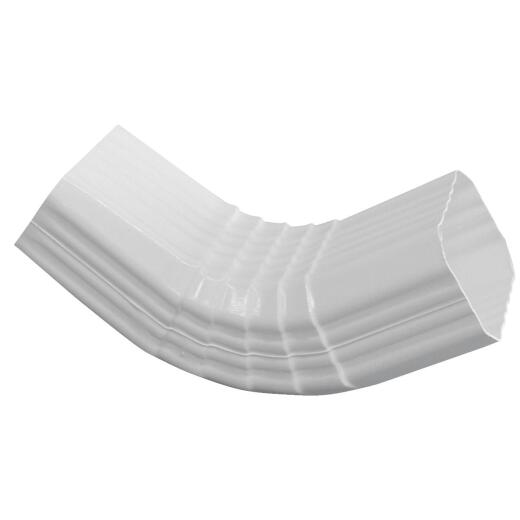 Repla K 2 x 3 In. Vinyl White Front Downspout Elbow