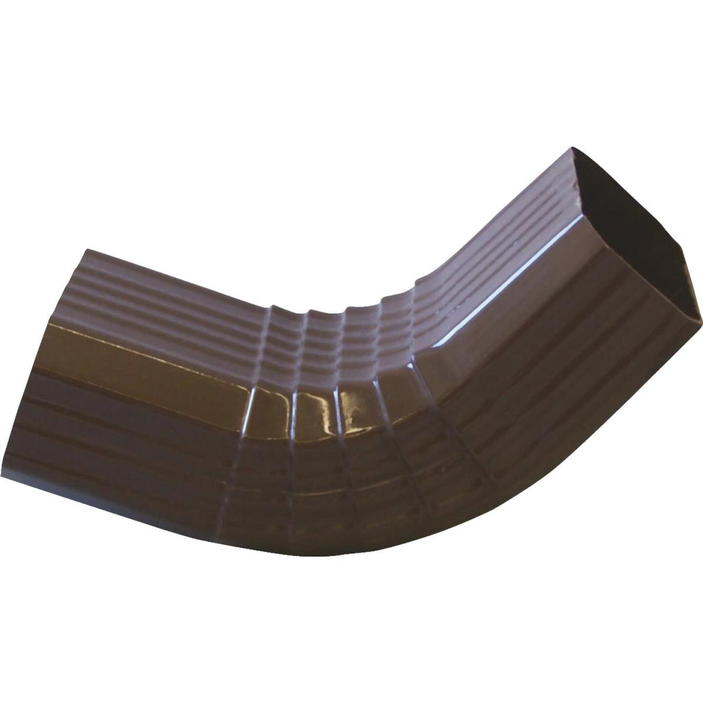 Repla K 2 x 3 In. Vinyl Brown Front Downspout Elbow Image 1