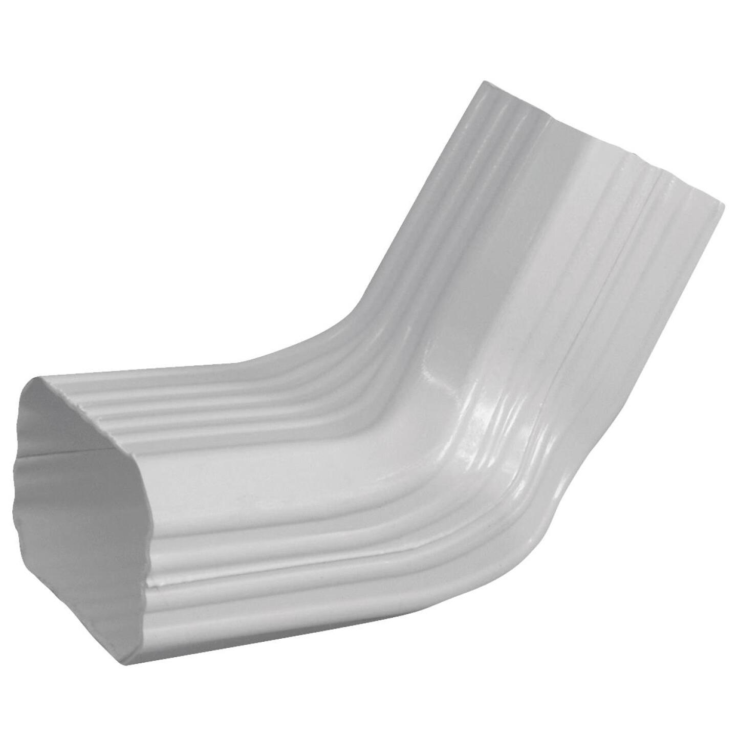 Repla K 2 x 3 In. Vinyl White Front or Side Downspout Elbow Image 1