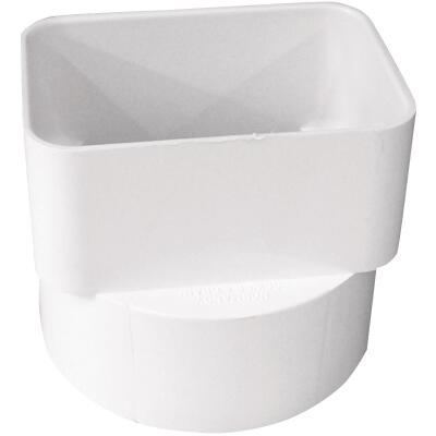 IPEX Canplas 3 In. x 4 In. x 4 In. PVC Downspout Adapter