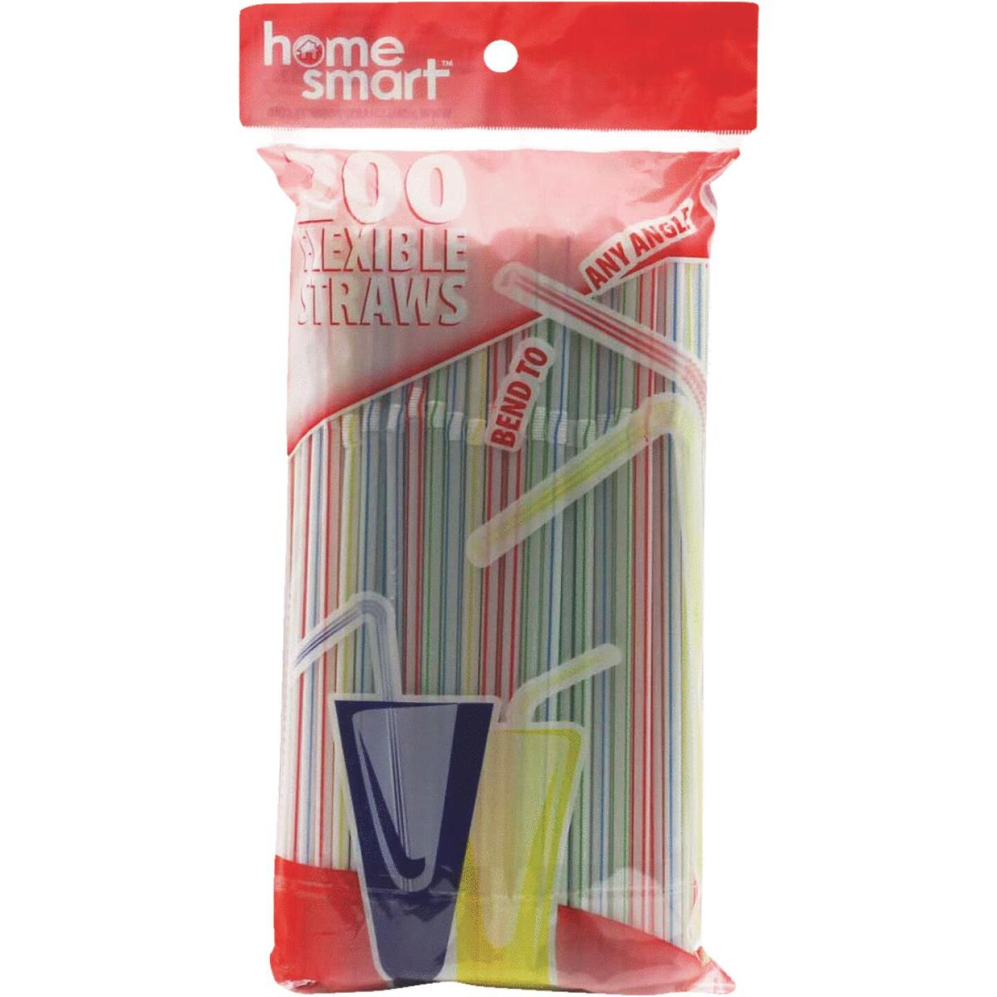 Home Smart Flexible Plastic Straws (200-Count) Image 2